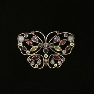 Jewelry - Silver with Semiprecious Butterfly Pin